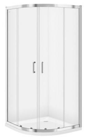 Sprchovací kút štvrťkruh 80 x190, R55, posuv, číre sklo (S154-001)