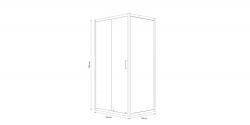 Sprchovací kút obdĺžnik 100x80x190, posuv, číre sklo (S154-003), fotografie 6/8