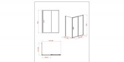 Sprchovací kút obdĺžnik 100x80x190, posuv, číre sklo (S154-003), fotografie 4/8