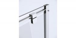 Sprchovací kút obdĺžnik 100x80x190, posuv, číre sklo (S154-003), fotografie 8/8