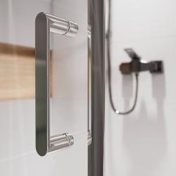 Sprchovací kút obdĺžnik 100x80x190, posuv, číre sklo (S154-003), fotografie 10/8
