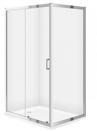 Sprchovací kút obdĺžnik 100x80x190, posuv, číre sklo (S154-003)