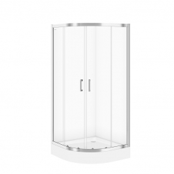 CERSANIT - Sprchovací kút BASIC štvrťkruh 80x185, posuv, číre sklo (S158-003)