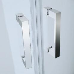 Sprchovací kút BASIC štvrťkruh 80x185, posuv, číre sklo (S158-003), fotografie 2/2