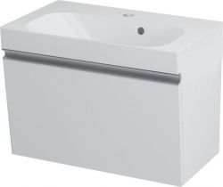 SAPHO - MELODY umývadlová skrinka 60x38x34cm s umývadlom JOY 60cm, biela (56051-SET)