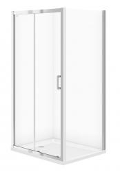 CERSANIT - Sprchovací kút BASIC obdĺžnik 100x80x185, posuv, číre sklo (S158-006)