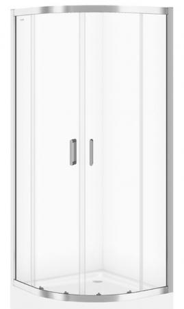 Sprchovací kút ARTECO štvrťkruh 80x190, posuv, číre sklo (S157-001)