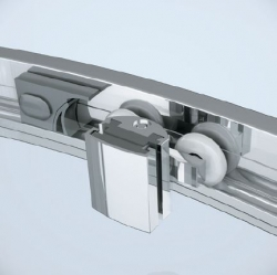 Sprchovací kút ARTECO štvrťkruh 80x190, posuv, číre sklo (S157-001), fotografie 2/4