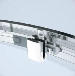 Sprchovací kút ARTECO štvrťkruh 80x190, posuv, číre sklo (S157-001), fotografie 4/4