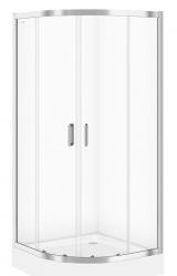 CERSANIT - Sprchovací kút ARTECO štvrťkruh 90x190, posuv, číre sklo (S157-002)