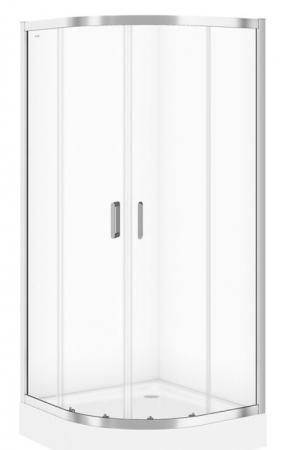 Sprchovací kút ARTECO štvrťkruh 90x190, posuv, číre sklo (S157-002)