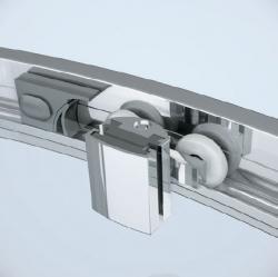 Sprchovací kút ARTECO štvrťkruh 90x190, posuv, číre sklo (S157-002), fotografie 4/4