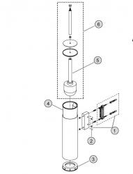 IDEAL STANDARD - I.ND náhradní kartáč bílý komplet k wc štětce (Connect.....  H961947NU AA (H961947AA)