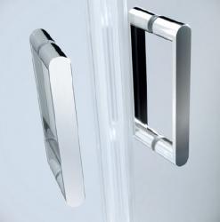 Sprchové dvere ARTECO 80x190, kývne, číre sklo (S157-007), fotografie 2/3