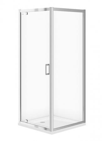Sprchovací kút ARTECO štvorec 80x190, kyvný, číre sklo (S157-009)