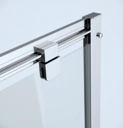 Sprchovací kút ARTECO štvorec 80x190, kyvný, číre sklo (S157-009), fotografie 2/2