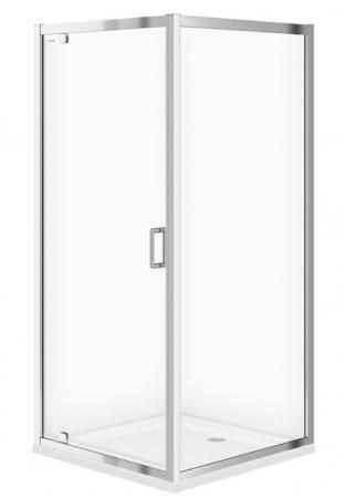 Sprchovací kút ARTECO štvorec 90x190, kyvný, číre sklo (S157-010)