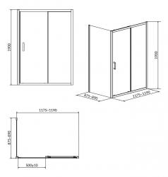 Sprchovací kút ARTECO obdĺžnik 120x90x190, posuv, číre sklo (S157-012), fotografie 8/4