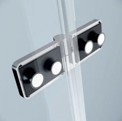 Sprchovací kút JOTA štvorec 90x195, kyvný, ľavý, číre sklo (S160-001), fotografie 6/9