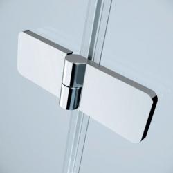 Sprchovací kút JOTA štvorec 90x195, kyvný, ľavý, číre sklo (S160-001), fotografie 8/9