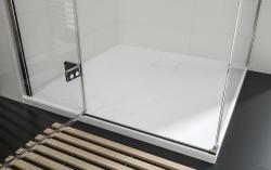 Sprchovací kút JOTA štvorec 90x195, kyvný, ľavý, číre sklo (S160-001), fotografie 16/9