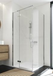 Sprchovací kút JOTA štvorec 90x195, kyvný, ľavý, číre sklo (S160-001), fotografie 14/9