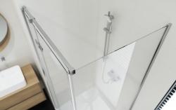Sprchovací kút JOTA štvorec 90x195, kyvný, ľavý, číre sklo (S160-001), fotografie 10/9