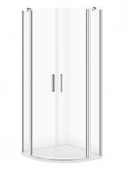 CERSANIT - Sprchovací kút MODUO štvrťkruh 80x195, kývne, číre sklo (S162-009)
