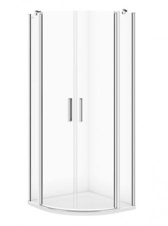 Sprchovací kút MODUO štvrťkruh 80x195, kývne, číre sklo (S162-009)