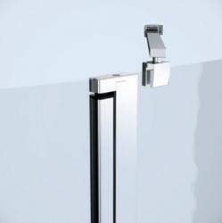 Sprchovací kút MODUO štvrťkruh 80x195, kývne, číre sklo (S162-009), fotografie 6/7