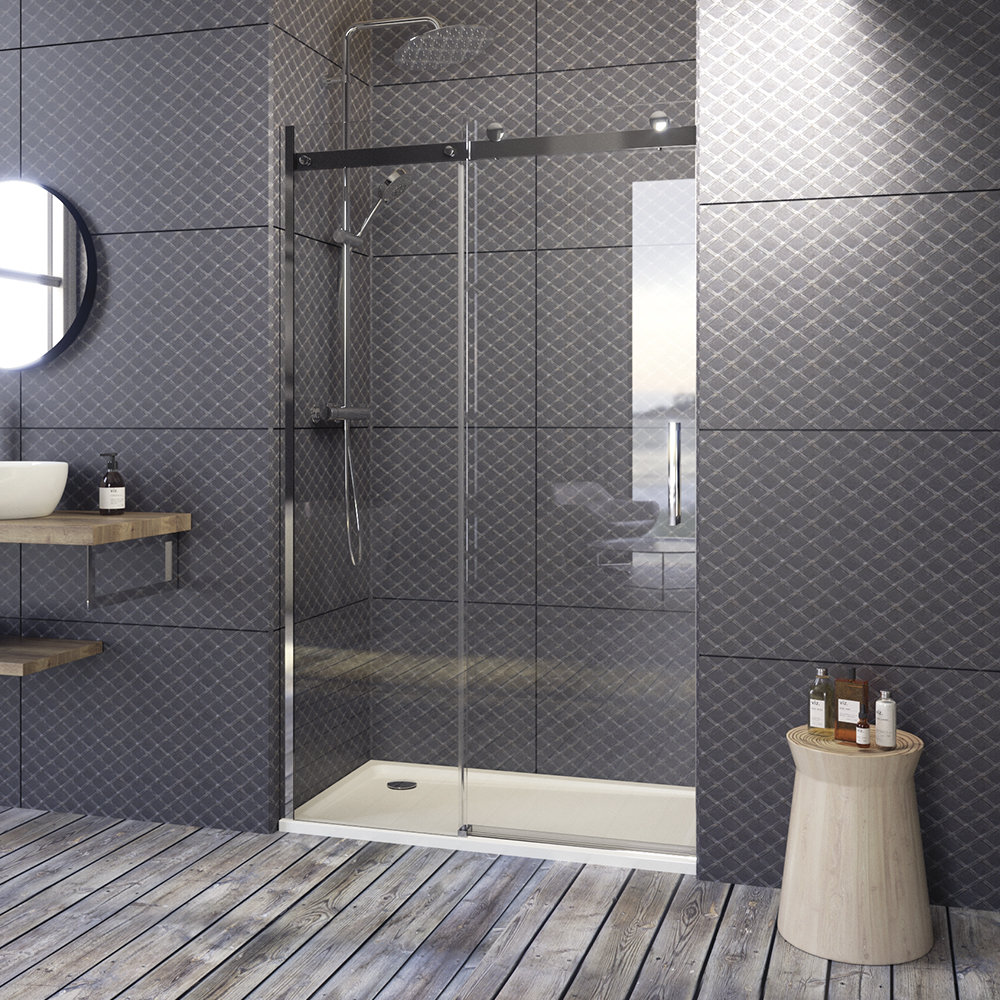 Aquatek - TEKNOSOFT B2 150 - Luxusní sprchové dveře zasouvací 147-151 cm, sklo 8mm (TEKNOSOFTB2150)