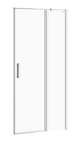 Kyvné dvere s pevným poľom MODUO 90x195, pravé, číre sklo (S162-006)