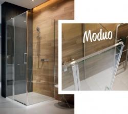 Kyvné dvere s pevným poľom MODUO 90x195, pravé, číre sklo (S162-006), fotografie 4/5