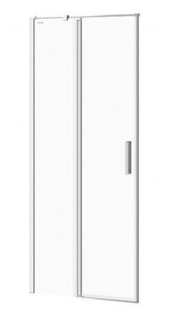 Kyvné dvere s pevným poľom MODUO 80x195, ľavé, číre sklo (S162-003)
