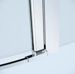 Kyvné dvere s pevným poľom MODUO 80x195, ľavé, číre sklo (S162-003), fotografie 2/5