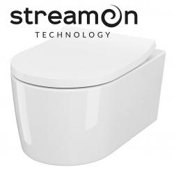 CERSANIT - Závesná WC misa INVERTO so systémom STREAM ON, bez sedátka (K671-001)