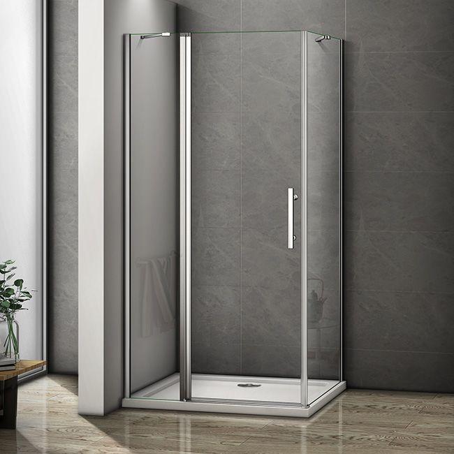 H K - Obdĺžnikový sprchovací kút MELODY B5 120x80 cm s jednokrídlovými dverami s pevnou stenou, vrátane sprchovej vaničky z liateho mramoru SE-MELODYB512080 / SE- ROCKY-12080