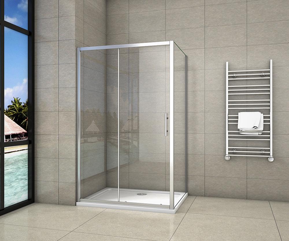 H K - Obdélníkový sprchový kout SYMPHONY 140x80 cm s posuvnými dveřmi včetně sprchové vaničky z litého mramoru (SE-SYMPHONY14080/ROCKY-14080)