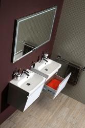 SAPHO - MELODY umývadlová skrinka 50x38x34cm s umývadlom JOY 50cm, biela (56050-SET), fotografie 8/6