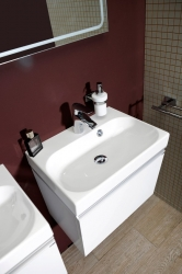 SAPHO - MELODY umývadlová skrinka 50x38x34cm s umývadlom JOY 50cm, biela (56050-SET), fotografie 12/6