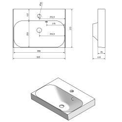 SAPHO - MELODY umývadlová skrinka 50x38x34cm s umývadlom JOY 50cm, biela (56050-SET), fotografie 4/6
