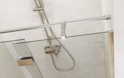 Sprchové dvere s pántami CREA 100x200, ľavé, číre sklo (S159-001), fotografie 4/7
