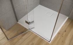 Sprchové dvere s pántami CREA 100x200, ľavé, číre sklo (S159-001), fotografie 10/7