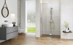 Sprchové dvere s pántami CREA 120x200, ľavé, číre sklo (S159-003), fotografie 8/9