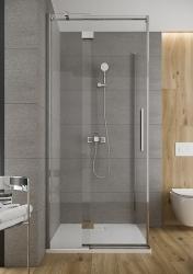 Sprchové dvere s pántami CREA 120x200, ľavé, číre sklo (S159-003), fotografie 16/9