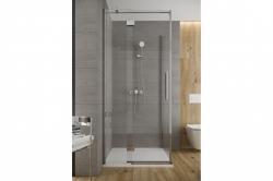 Sprchové dvere s pántami CREA 120x200, pravé, číre sklo (S159-004), fotografie 4/9
