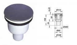 Ostatní - HL sifon sprch.vany 90mm, 31,8l/min, svislý odtok 50mm HL511N (HL511N)