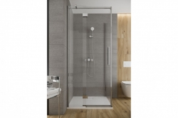 Sprchové dvere s pántami CREA 90x200, pravé, číre sklo (S159-006), fotografie 2/6