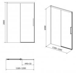 Sprchové posuvné dvere CREA 120x200, číre sklo (S159-007), fotografie 8/4