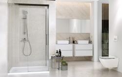 Sprchové posuvné dvere CREA 120x200, číre sklo (S159-007), fotografie 4/4
